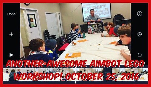 Good afternoon guys, but delayed here for today's #vlog! Please stay tuned! Today's VLOG is all about @theaimbot  workshop! #LEGO #AWESOME #yeg