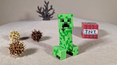 Mine Creeper (Busted.Knuckles) Tags: home toy minecraft miniature ricohgr dxoopticspro11