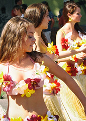 Flower petals (max tuguese) Tags: flower petal girl festival carnival dance color maxtuguese sony smile woman faces candid street three
