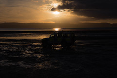 Drive By (cathbooton) Tags: beach sunset vehicle drive wirral merseyside landscape sky clouds hills