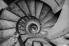Spiral Stairs (noname_clark) Tags: italy rome vacation trip honeymoon basilicapapaledisantamariamaggiore church statue bernini spiral stair engineering blackandwhite