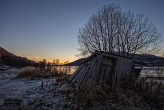 It's over (Torbjrn Tiller) Tags: rossfjord rossfjordvannet sunset solnedgang troms abandoned