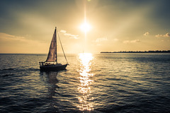 Sailing into The Sun (A Great Capture) Tags: agreatcapture agc wwwagreatcapturecom adjm toronto on ontario canada canadian photographer northamerica ash2276 ashleylduffus ald mobilejay jamesmitchell sunset atardecer eos digital sky himmel waterscape water agua reflection outdoor outdoors sailboat sail summer summertime 2016 shadow silhouette