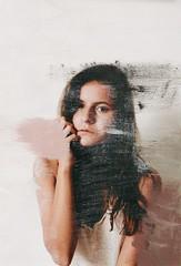 Faded (trossvalentina) Tags: art original selfportrait portrait girl paint new colors neutral pink shadow light