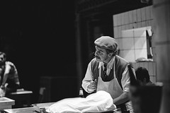 The Kitchen by Arnold Wesker (Andrea Di Casa) (Federico Pitto) Tags: bw nikonfe2 d76 trix pushprocess genova teatrostabilegenova nikkor135mm28