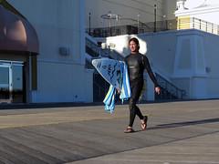 Let's Go Surfin' (Multielvi) Tags: atlantic city new jersey nj shore boardwalk man guy dude surferwet suit wetsuit surfboard candid