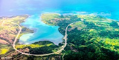 Jamaica at Caribbean Sea 18 (zwzzjim) Tags: adventure plant tree trail outdoor landscape serene blue waterfront water beach seashore sunset sunlight sky sea montego bay jamaica