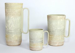 Organiclux White Pitchers (anczelowitz) Tags: ceramic pottery clay stoneware glaze texture handmade craft anczelowitz new tableware vase plates elledecor cnx artisan