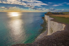 Belle Tout Lighthouse, Beachy Head, Sussex (mattbeee) Tags: 500px green beach beachy boat chalk cliff cloud coast fall fb grass head landscape open pebbles reflective rugged sea seascape sevensisters sky sunset sussex whitecliffs
