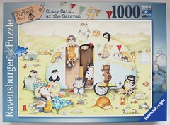 Crazy Cats at the Caravan (Linda Jane Smith) (Leonisha) Tags: puzzle jigsawpuzzle crazycats ravensburger comical katze cat puzzleschachtel puzzlebox