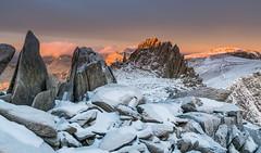 'A Winter Dawn' - Castell-Y-Gwynt, Snowdonia (Kristofer Williams) Tags: wales snowdonia winter snow ice dawn sunrise mountain light landscape glyderfach castellygwynt rocks frozen