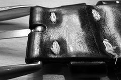 Belt Buckle Stitched (G. Lang) Tags: sonyrx100iii noiretblanc blackandwhite macro boucledeceinture bw makro stitch forêtnoire monochrome branches gürtelschnalle blackwhite beltbuckle einfarbig schwarzweis macromondays