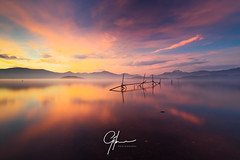 Tranquility Loch (Gilmour-Photography) Tags: loch water calmingwaters calmwaters lochlomond sunset sunlight mist misty gilmourphotography nikond810 leefilters leecircularpolarizer leelittlestopper leesw150 scotland scottishtourism scottishhighlands scottishhills samyang14mm autumn colourful colorful trossachs