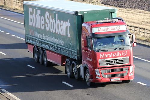 MR YK63 UKY VOLVO FH13 MARSHALLS EDDIE STOBART