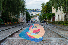 Street Art (kilian336) Tags: angers 49 maine et loire france art de rue street symboles symbols marches stairs