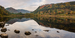 Glendalough National Park (Pastel Frames Photography) Tags: glendaloughwicklow lower lake reflections water sky clouds stones autumn trees shore nature morning mountains canon5dmark3 canon 2470 mm trips outdoors travel