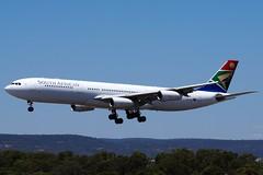 ZS-SXG  South African Airways A340-313 (johnedmond) Tags: perth ypph australia saa airbus a340 aviation aircraft aeroplane