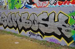 zombosh (JOHN19701970) Tags: zombosh zomby bosh zom graffiti graff london aerosol spray paint artist wall 2015 15 trellick tower zomb dds uk