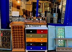 The Old Curiousity Shop (acwills2014) Tags: colour color clifton bristol drawers colourful antiques brica brac curios curiosityshop blue shop shopfrontage windows reflections