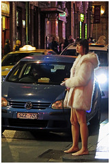 """""""Chinatown Nights""""- Melbourne, Australia (TravelsWithDan) Tags: youngwoman night chinatown melbourne australia cars street candid streetphotography opencoat"""