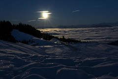 Supermoon over the fog (Oberson Robin) Tags: supermond supermoon mond moon night nightshot mountain berg nacht berge alps alpen gurnigel switzerland swiss schweiz snow schnee nature natur fog nebel mist robin oberson roberson photography a99 sigma sony view aussicht wonderful beautiful