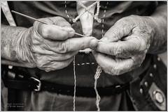Industrious hands (monikadlb) Tags: italy macro mani e bianco nero spilimbergo lavoro udine vecchi tamron90 storica mestieri rievocazione monicadelbianconikond7100