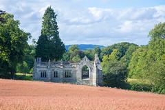 Open all hours (reiver iron - RMDPhotos.co.uk) Tags: tree church field scotland fife empty ruin harvest hills lomond