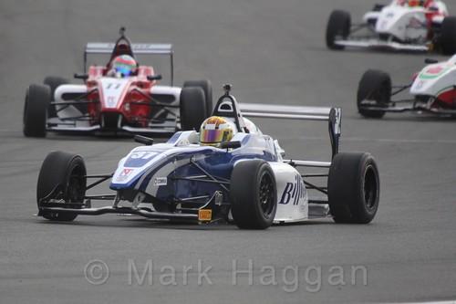 HHC Motorsport's Sisa Ngebulana in BRDC F4 Race Two at Donington Park, September 2015