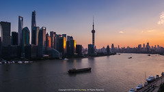 The Magic City Of The Sunset () Tags: china city sunset night landscape shanghai fujifilm    thebund lujiazui huangpuriver  xt1