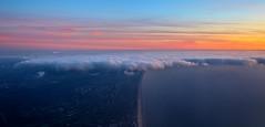 West Coast Holland (Andy.Gocher) Tags: sunset sky holland beach netherlands skyline canon coast flying europe bluesky windowseat 100d sigma18250 andygocher