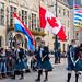 Delta Police Pipe Band uit British Columbia/Canada - Coolsingel - Rotterdam