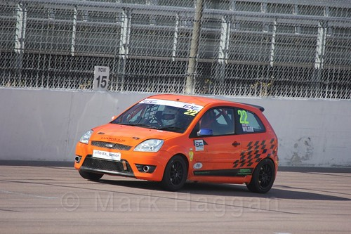 Ian Wilson in Fiesta Racing at Rockingham, Sept 2015
