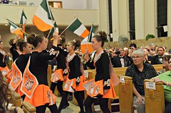 Dancers honor the guests from Ireland