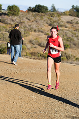 Gillian is all alone after the last hill (Malcolm Slaney) Tags: championship crosscountry xc crystalsprings 2015 scval