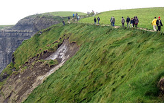 Cliff Collapse of the Unstable Ground on the Cliffs of Moher (albatz) Tags: ireland warning cliffs cliffsofmoher unstable