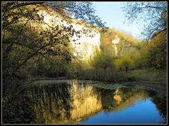 Naturschutzgebiet Remseck (almresi1) Tags: cliff lake see rocks teich spiegelung ludwigsburg klippen steinbruch naturschutzgebiet mirroring tmpel remseck rems