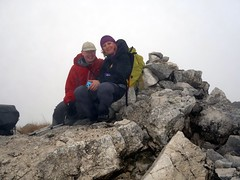 """Me and Edita on the misty summit of Monte Petroso (2249m) • <a style=""""font-size:0.8em;"""" href=""""http://www.flickr.com/photos/41849531@N04/22270862782/"""" target=""""_blank"""">View on Flickr</a>"""