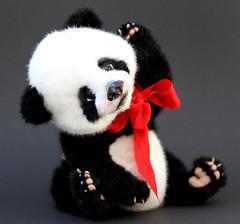 Mei Lan (Yanina Link) Tags: bear toy panda teddy ooak teddybear pandacub ooakdoll artistbear artistteddy ooakteddybear bilibinobears