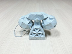 Telephone (hyunrang) Tags: origami telephone hur rhombicuboctahedron paperstrip