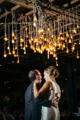 "Custom ""Starburst"" Chandelier by ILD"