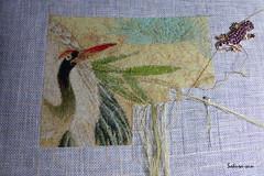Cranes and pine 36 (Sakura-san création) Tags: china pin cross stitch cranes pines asie grues longévité longivity