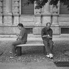 Summer in Milan (nickriviera73) Tags: milan italy street people rolleiflex tlr 6x6 mediumformat blackandwhite bw analogue vintagecamera film filmscan