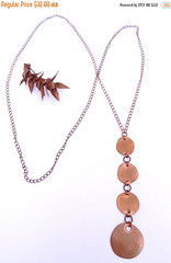 50% OFF Long Copper Chain Lariat Y Necklace with Natural Oxidized Copper Rustic Polished Circle Dangle Pendant (N74) (amaliyjewelry) Tags: fashion circle necklace long y handmade rustic polish jewelry chain copper lariat etsy boho dangle oval patina amaliyjewelry