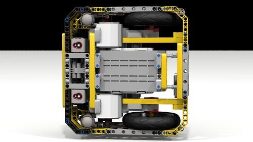 """Lego EV3 """"Fllying Box Turtle"""" underside"""