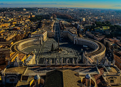Vatican City (Stefan Machita) Tags: camera city travel italy holiday pope vatican rome roma building history church architecture canon eos fly inflight airport italia cathedral outdoor basilica cia tourist aerial stefan ryanair dslr sanpietro pilot 737 otp 737800 turist chatolic 738 calatorii calatorie istorie 700d liyght