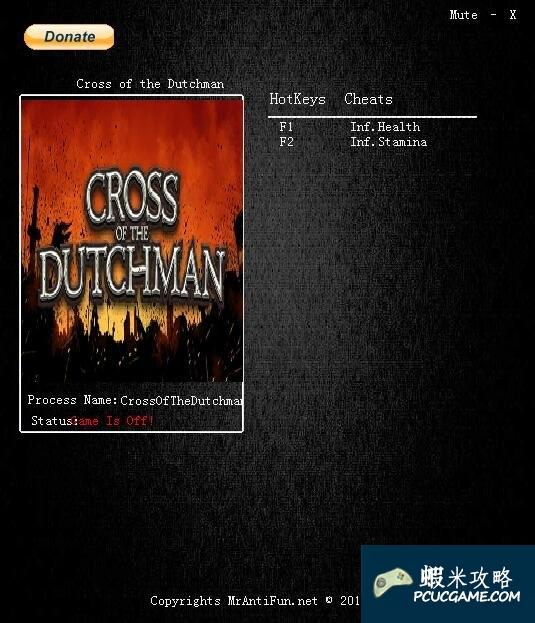 荷蘭十字架 v1.0兩項修改器MrAntiFun版