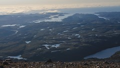 Sea view from the summit of Arkle