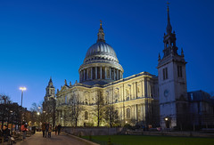 St Paul's Cathedral (DaveWilliams) Tags: street uk england london night dusk cannon londonist