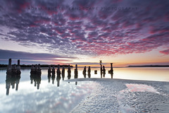 There Once Was a Jetty (Adam Randell) Tags: rainbowbeach seascape sand ocean water jetty sunset singhray reflection reflections gympie adamrandell australia adamrandelllandscapephotography ripples
