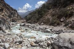 The Imja Khola river (D A Scott) Tags: nepal himalayas mountains everest base camp trek